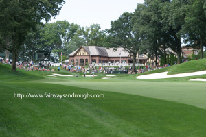 Club House at the Oak Hill Country Club from the 13th Fairway