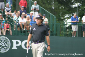 Phil Mickelson walking