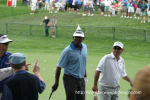 Vijay Singh walking between holes